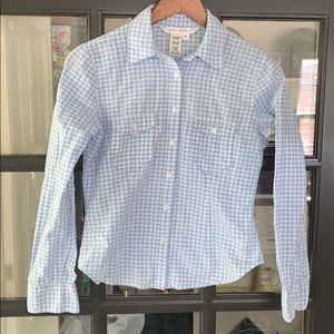 Max Studio gingham button-up